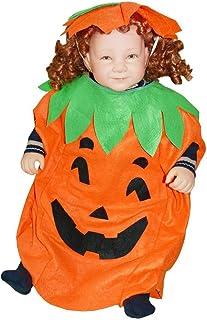 Ikumaal AN01 80-86 Kürbiskostüm, Halloween Kostüm, Kürbis Faschingskostüme, Kürbis Karnevalskostüm, für Kinder, Jungen, Mädchen, für Fasching Karneval Fasnacht, auch als Geschenk zum Geburtstag oder Weihnachten