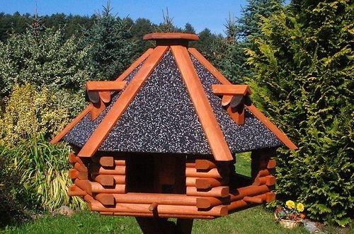 XXL Luxus Vogelhaus Futterhaus Vogelhäuser 70x45 cm Nr13s Dach mit Strukturputz