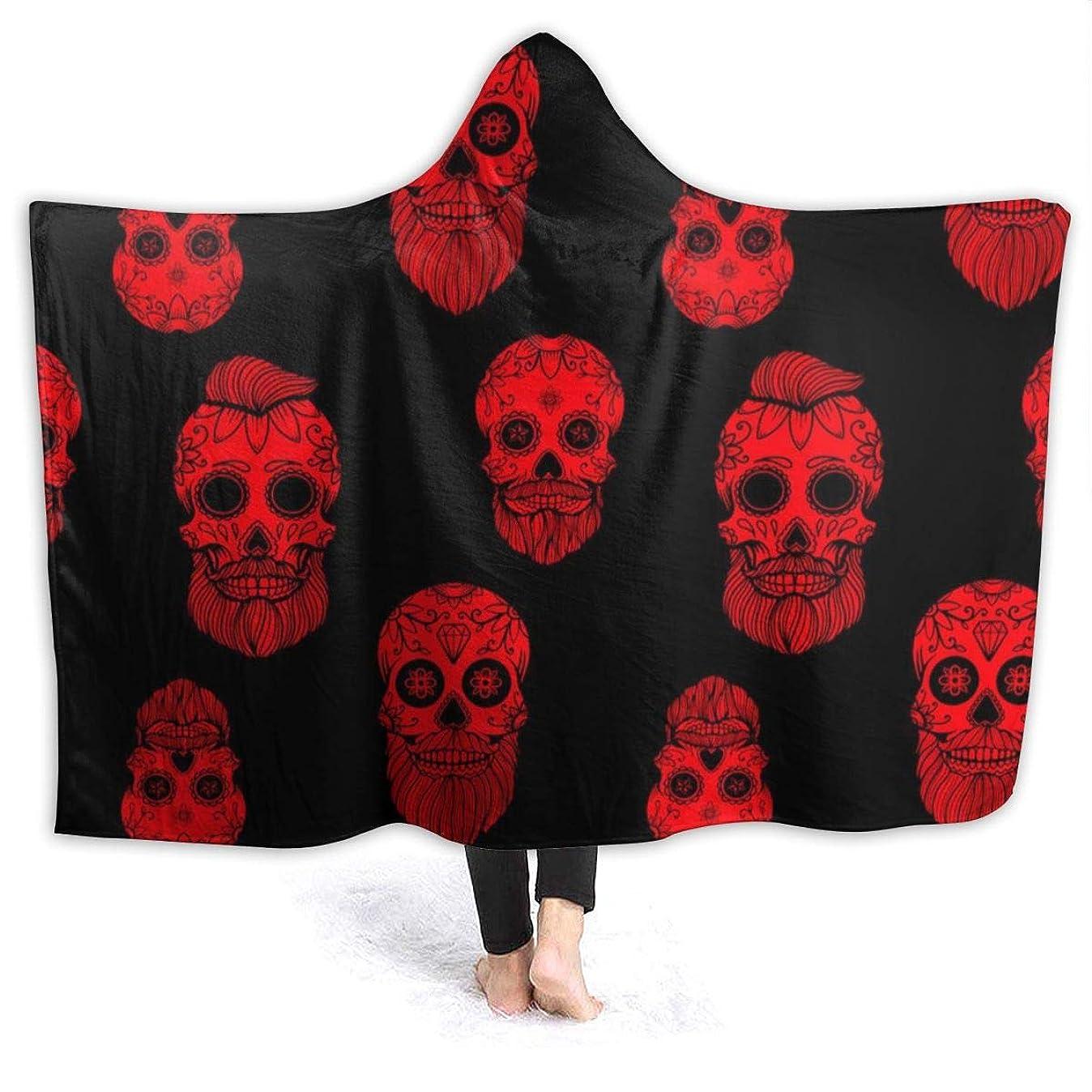 興奮争いアクセスYONHXJLAZ Seamless Pattern With Mexican Sugar Skulls 毛布 フード付き ブランケット 大判 タオルケット厚手 オールシーズン快適 軽量 抗菌防臭 防ダニ加工 オシャレ 携帯用,車用,オフィス用