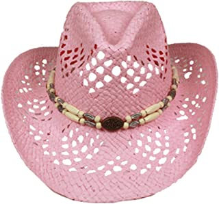 9dc0610da99 SILVERFEVER Silver Fever Ombre Woven Straw Cowboy Hat with Cut-Outs