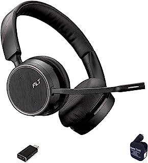 Plantronics Voyager 4220-UC Bluetooth Headset Bundle (USB C) Compatible for Dragon, Softphones, Zoom, Teams, Skype, RingCe...