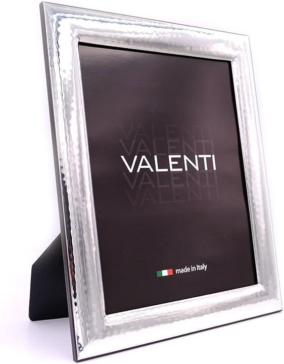 portafoto in argento lucida martellata cm 20x25 valenti&co 12150-6L Valenti & co
