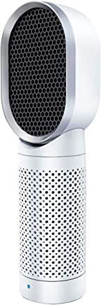 QUEENTY 空気清浄機 小型 脱臭 花粉 静音 卓上空気清浄器 タバコ けむり?PM2.5対策 殺菌 ホコリ99.99% 除去 省エネ HEPAフィルター搭載 USB給電ケーブル 35dB低騒音設計 マイナスイオン発生 風量調節 ビジネス 勉強適用