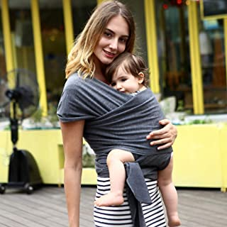 Wrap Baby Carrier, Soft and Breathable Hands Free Baby Carrier Sling and Nursing Cover, Perfect for Newborn Infants and Babies, Enhances Baby Bonding