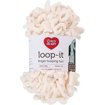 RED HEART E884.0318 Loop-It Yarn, Ice Cream