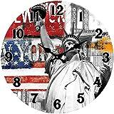 Póster Shop Cristal Reloj de Pared, Vidrio, Vidrio, Colorfu