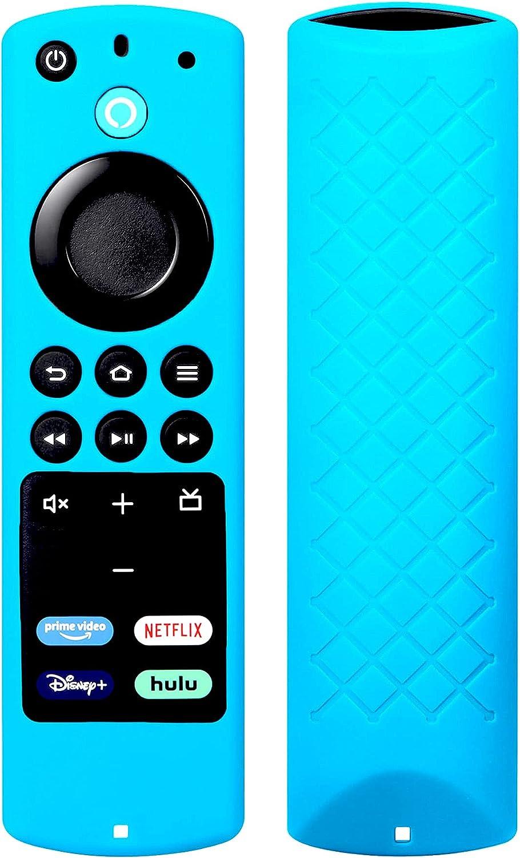 Protective Cover for All-New Alexa Voice Remote (2018-2021) for Fir TV Stick (3rd Gen) 2021 / Fir TV Stick 4K / Fir TV Stick Lite 2020 / Fir TV Cube/Fir TV (3rd Gen) Silicone Remote Case - Blue