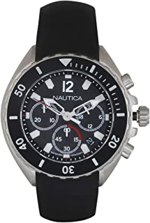 Nautica Men's 'NEW PORT' Quartz Stainless Steel Casual Watch