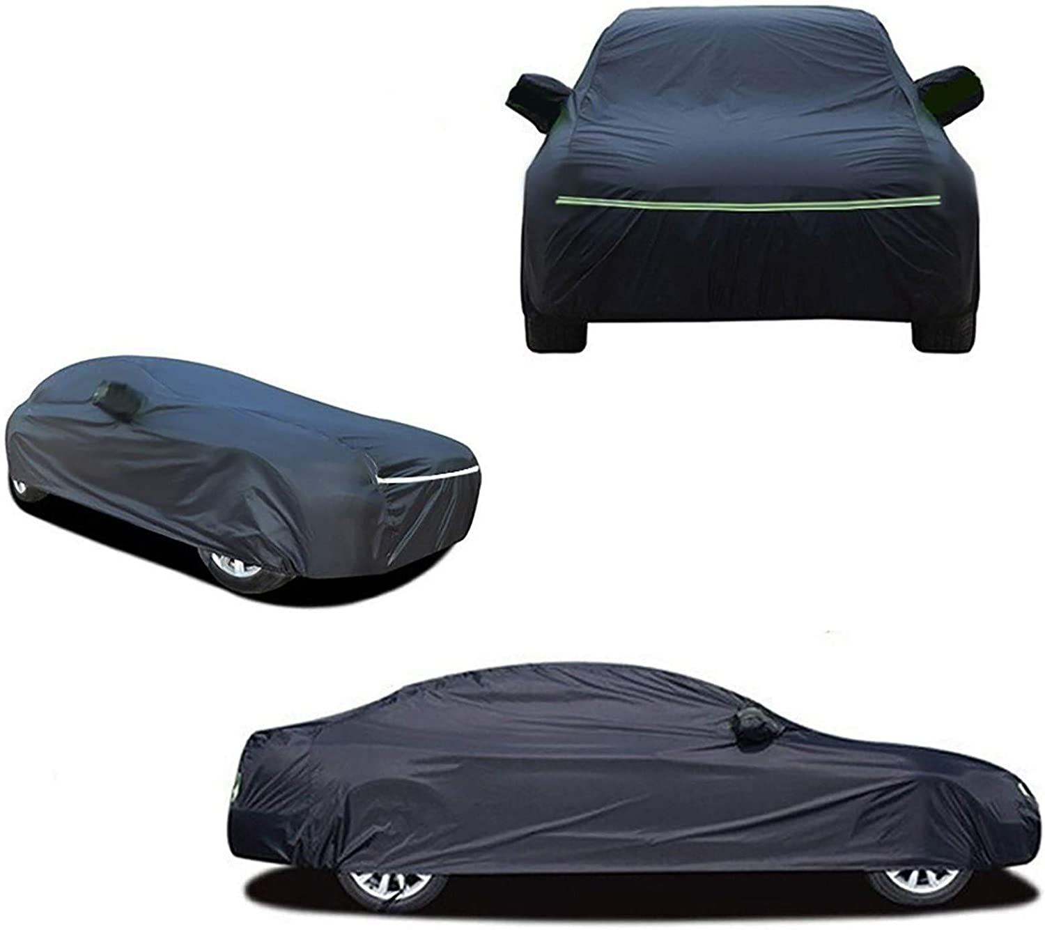 Color : Black, Size : CT 200h Plus Velvet Waterproof Oxford Cloth Car Cover Compatible With Lexus CT200h ES300h ES350 GX460 GX470 HS250h Effectively Respond To Rain Snow And Windy Weather