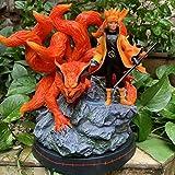 HZLQ Naruto Kurama Uzumaki Naruto Szene Kyuubi,Anime Model Statue Animierte Ornamente Charakter...