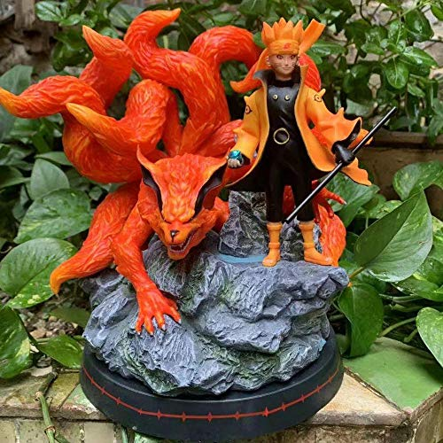 HZLQ Naruto Kurama Uzumaki Naruto Szene Kyuubi,Anime Model Statue Animierte Ornamente Charakter Kunstsammlung Toy Action Figur 25cm