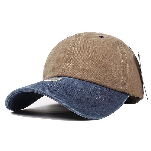 990615e8bb2 Vankerful Unisex Washed Dyed Cotton Adjustable Solid Baseball Cap