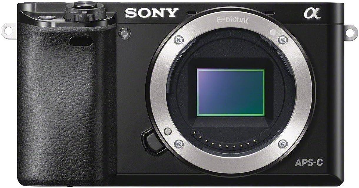 Sony A6000 - Cuerpo de cámara EVIL de 24 Mp (enfoque automático híbrido rápidovídeo Full HD WiFi) negro