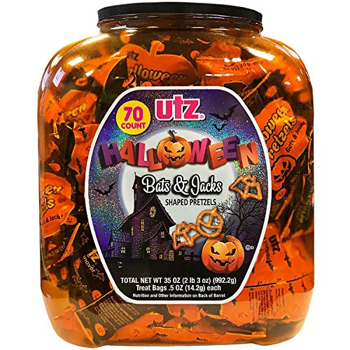 Utz Halloween Shaped Pretzel Treat Barrels, 70 Count