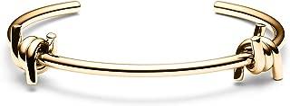 MVMT Women's Double Barbed Cuff Bracelet   Open Closure, Stainless Steel