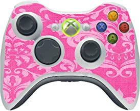 Pink Damask Vintage Effect Pattern Background Vinyl Decal Sticker Skin by Moonlight4225 for Xbox 360 Wireless Controller
