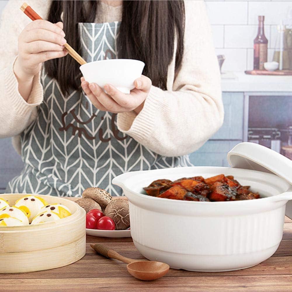 CYQ Plats à ragoût avec couvercles Casserole Pot - Casserole à Vapeur de Style Japonais Grande capacité Pot à ragoût Pot à Soupe Domestique Pot à Bouillie-Blanc Black