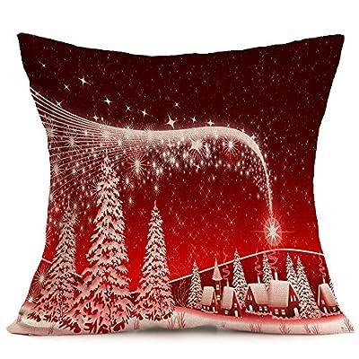 "NEW BARLEY Merry Christmas Series Cotton Linen 18"" x 18"" Decorative Throw Pillow Cover Cushion Case Pillow Case"