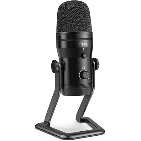 Amazon Com Usb Microphone Fifine Metal Condenser Recording Microphone For Laptop Mac Or Windows Cardioid Studio Recording Vocals Voice Overs Streaming Broadcast And Youtube Videos K669b Musical Instruments