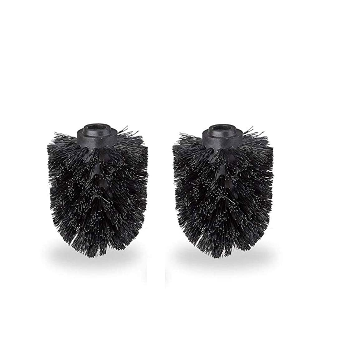 Toilet Brush Head Set 2 Loose Brush 12mm Thread Brush Head Diameter 7 cm Black
