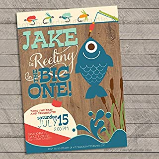 Fishing Birthday Party Invitations (Set of 10) Personalized