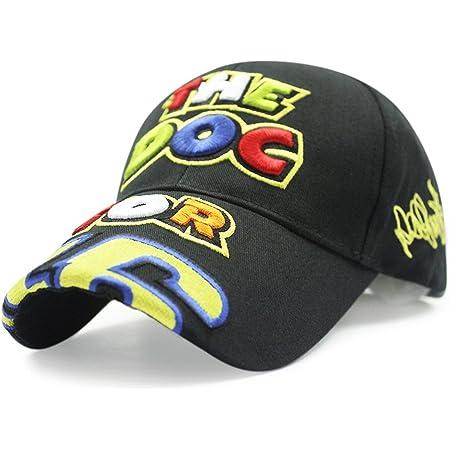 Bovlee VR46 Digital-Stickerei-Baseballm/ütze Motorrad Hat Racing Cap Sport-Baseball-Cap
