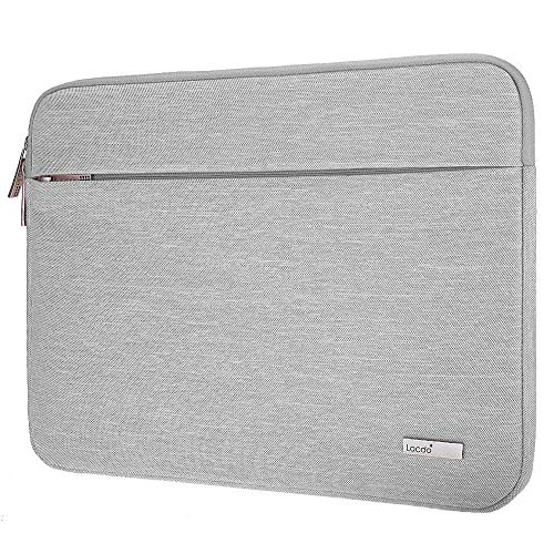 Lacdo 11.6 Inch Chromebook Case Laptop Sleeve for 11.6' Samsung Dell HP Stream/Acer Chromebook R 11 / Lenovo C330 / ASUS C202 / MacBook Air 11.6-inch/Surface Pro X 7 6 5 2-in-1 Notebook Bag, Gray