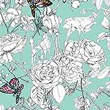 Art Gallery Fabrics - Baumwollstoff Meterware mit Blumen