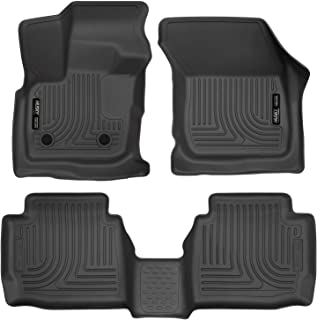 Husky Liners 98791 Black Weatherbeater Front & 2nd Seat Floor Liners Fits 2017-2019 Ford Fusion, 2017-2019 Lincoln MKZ