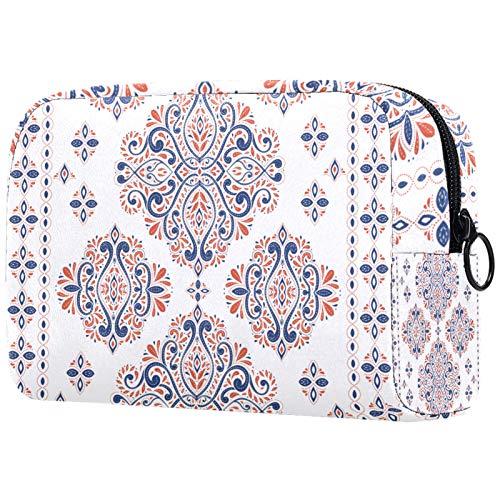 Makeup Bag Organizer Small CosmeticBagsforWomen Travel Toiletry Bag Makeup Case Purse Handbag Floral Vintage Traditional Ethnic Turkish Indian