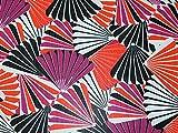 Muscheln Print yoryu Crinkle Chiffon Kleid Stoff orange &