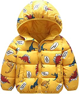 Baby Boy Winter Jacket Down Cotton Windproof Warm Winter Coats with Cute Printed