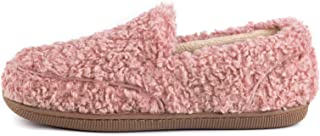 ZIZOR Women's Furry Faux Fur Slippers with Cozy Memory Foam, Ladies Indoor or Outdoor House Shoes