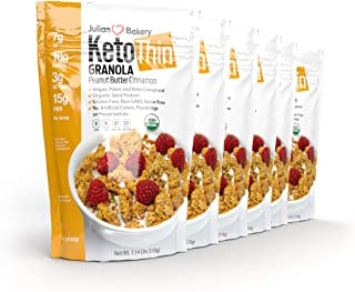 Julian Bakery Keto Thin Granola   Peanut Butter Cinnamon   Keto   USDA Organic   10g Protein   3 Net Carbs   Gluten-Free  ...