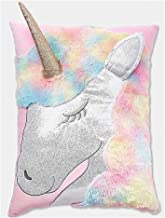 Justice Girls Extra Large Rainbow Unicorn Shimmer Pillow