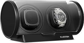 KLARSTEIN Lugano - Remontoir Automatique pour 2 Montres, 4 Modes de Rotation, Boîtier en Plastique résistant, Grande fenêt...
