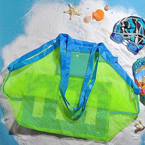 borsa da spiaggia TOPBEST La grande borsa da spiaggia in tessuto a rete con tote, zaino, asciuga la...