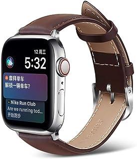 Correa de reloj de cuero para Apple Watch adecuada para 5 40 mm 44 mm Correa de pulsera Correa de cuero Correa de reloj 38...