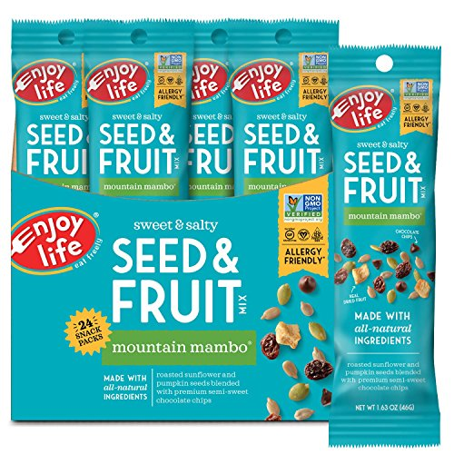 Enjoy Life Seed & Fruit Mix, Gluten free, Dairy free,  Mountain Mambo, 1.63 Ounce Bags (Pack of 24)