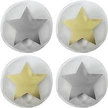 Sterne Mix1 Handw/ärmer mit Stern-Motiv in goldfarben und silberfarben com-four/® 4X Taschenw/ärmer 1 Stern Rundes Taschen-Heizkissen