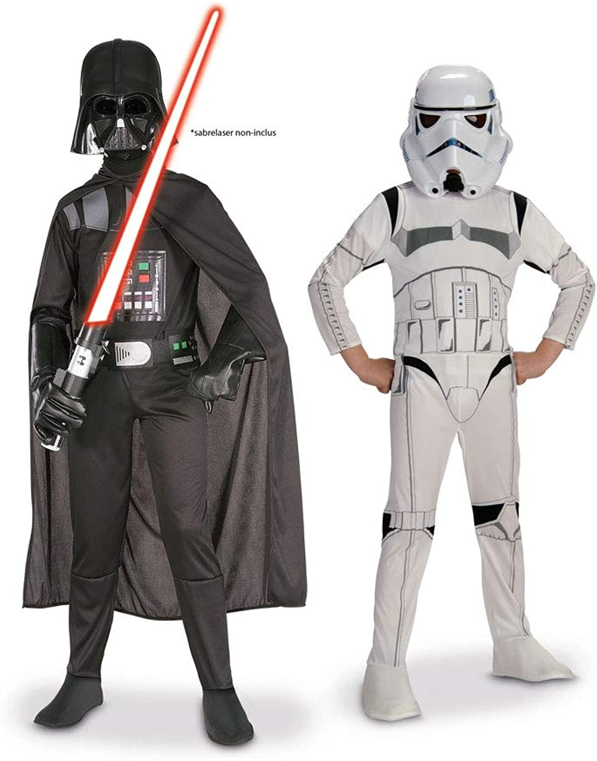 Generique Darth Vader and Stormtrooper Star Wars Couples Costumes for Kids