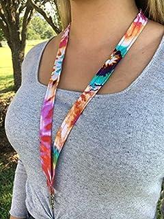 872f3d8b2fe Tie Dye Lanyard Tie Dye Keychain Tie Dye badge holder Tie Dye gift idea