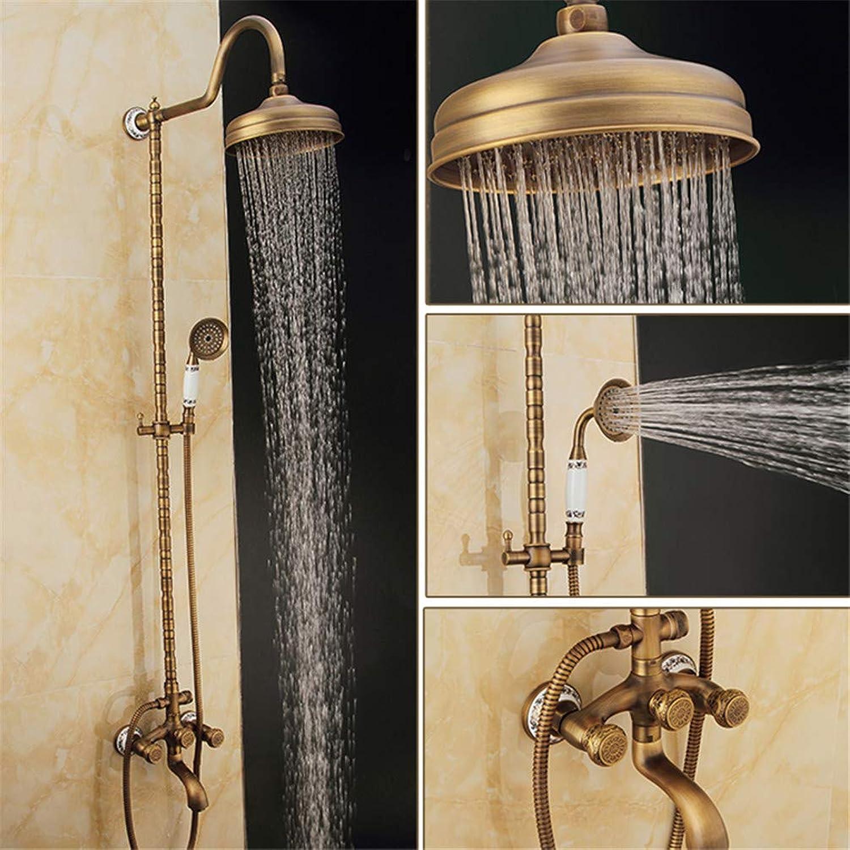 Lvsede Bad Wasserhahn Design Küchenarmatur Niederdruck Retro Kupfer Keramik Geschnitzte Basis Badezimmer Dusche L6106