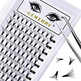 16D Premade Volume Eyelash Extensions C curl 0.07 Volume Lashes Mixed Length 8-14mm Premade Fans Short Stem Knot Free Lashes by GEMERRY (16D-0.07-C curl-Mix)