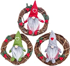 Autumn Wreath 3Pcs Christmas Decoration for Door Tree Wreaths Garland Hanging Pendant Window Wall Wreaths Pine Ornament Se...
