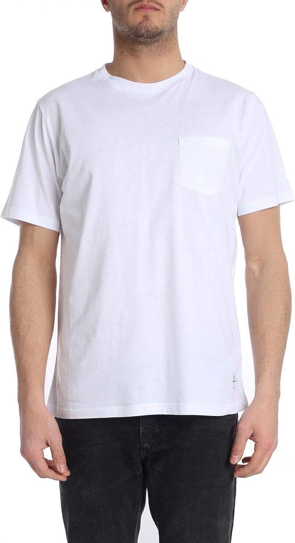 fed4583f Department Five Five Five Men's U00J002J0001001 White Cotton T-Shirt aa2b85