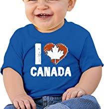 I Love Canada, Canada Day Infant Kid's T Shirt Cotton Tee Toddler Baby 6-18M
