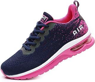 FLARUT Damen Sportschuhe Laufschuhe Turnschuhe Luftpolster Trainers Running Leichte Schuhe Fitness Atmungsaktiv Gym Sneakers