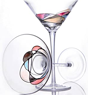 3eaec4a39cc4 Handcrafted and Painted Martini Glasses by Sonoma Artisan