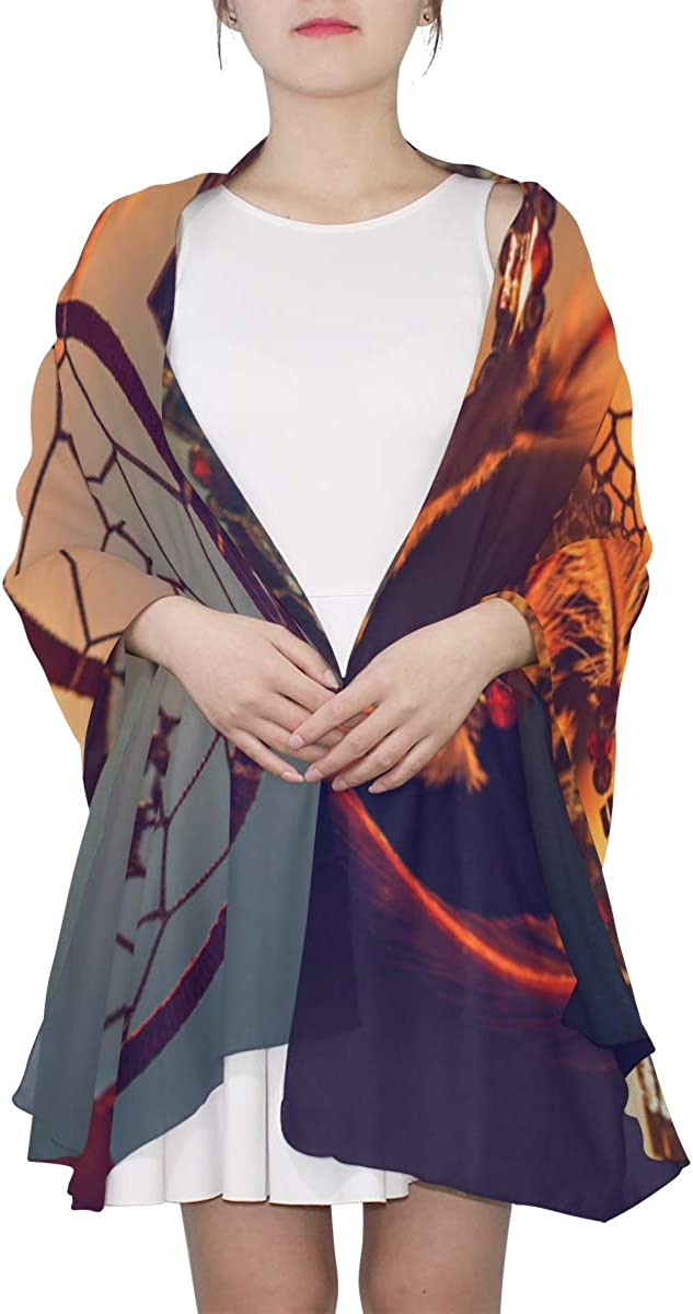 Dreamcatcher In Windy Day Unique Fashion Scarf For Women Lightweight Fashion Fall Winter Print Scarves Shawl Wraps Gifts For Early Spring